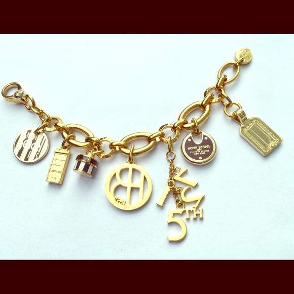 7884e52a1537c Henri Bendel Gold Charm Bracelet!
